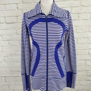 Lululemon In Stride Jacket Pigment Blue White 8
